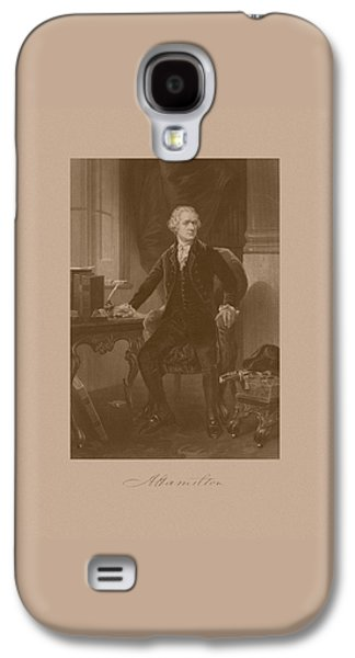 Revolutionary War Mixed Media Galaxy S4 Cases - Alexander Hamilton Sitting At His Desk Galaxy S4 Case by War Is Hell Store