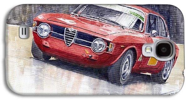 Watercolor Paintings Galaxy S4 Cases - Alfa Romeo Giulie Sprint GT 1966 Galaxy S4 Case by Yuriy  Shevchuk