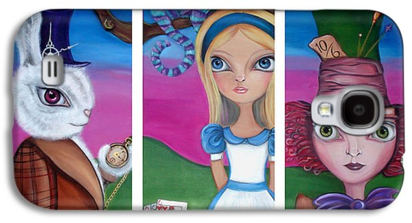 Alice In Wonderland Inspired Triptych Galaxy S4 Case