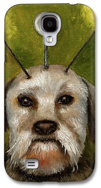 Alien Dog Galaxy S4 Case by Leah Saulnier The Painting Maniac