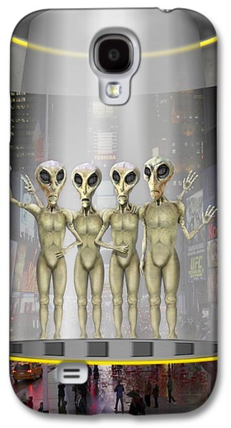Alien Vacation - Beamed Up From Time Square Galaxy S4 Case by Mike McGlothlen