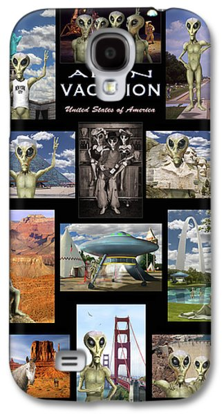 Alien Vacation - Poster Galaxy S4 Case by Mike McGlothlen