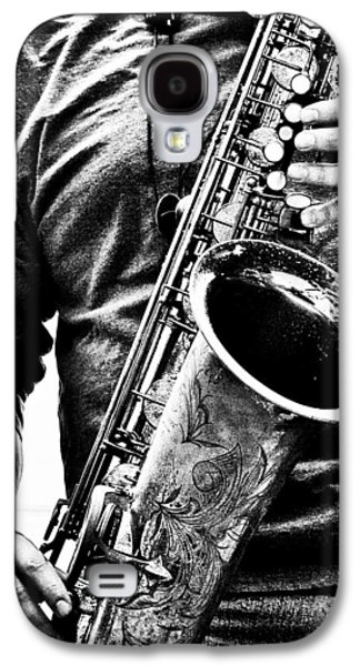 Saxophone Galaxy S4 Case - All Blues Man With Jazz On The Side by Bob Orsillo