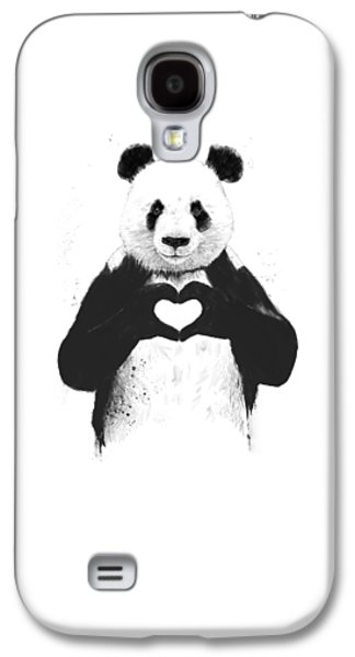 All You Need Is Love Galaxy S4 Case by Balazs Solti