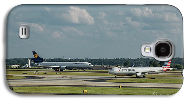 Allies In Passing Lufthansa Cargo American Airlines Atlanta Airport Art Galaxy S4 Case