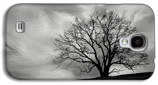 Alone On A Hill In Black And White Galaxy S4 Case