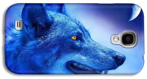 Alpha Wolf Galaxy S4 Case by Mal Bray