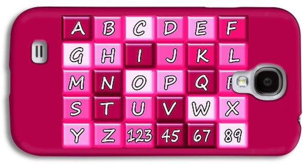 Alphabeth - Pink - Kids Room Galaxy S4 Case by Anastasiya Malakhova