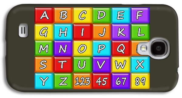 Alphabeth - Rainbow - Kids Room Galaxy S4 Case by Anastasiya Malakhova
