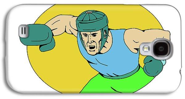 Amateur Boxer Knockout Punch Drawing Galaxy S4 Case by Aloysius Patrimonio