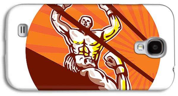 Amateur Boxer Winning Circle Cartoon Galaxy S4 Case by Aloysius Patrimonio
