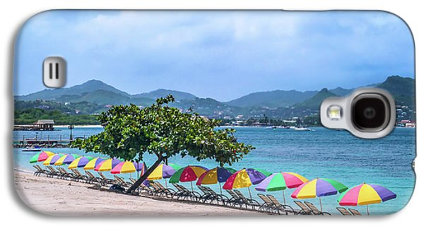Ambrelas On The Beach Galaxy S4 Case by Mao Lopez