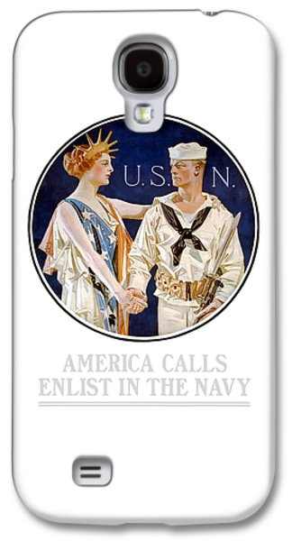America Calls Enlist In The Navy Galaxy S4 Case