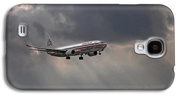 American Aircraft Landing After The Rain. Miami. Fl. Usa Galaxy S4 Case by Juan Carlos Ferro Duque