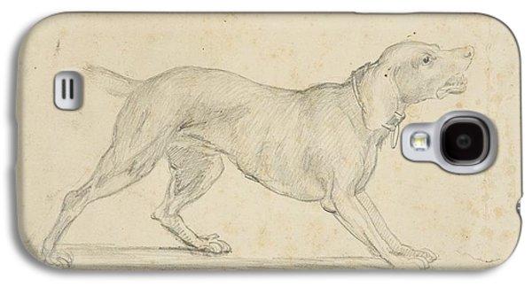American Barking Dog In Profile Galaxy S4 Case