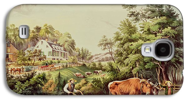 American Farm Scenes Galaxy S4 Case by Currier and Ives
