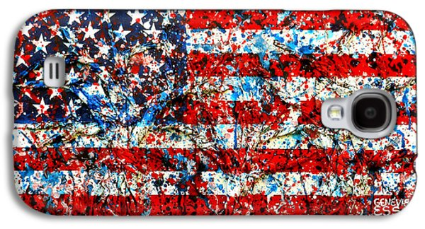 American Flag Abstract With Trees Galaxy S4 Case by Genevieve Esson