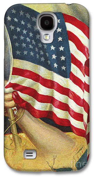 American Flag Emerging From America Galaxy S4 Case