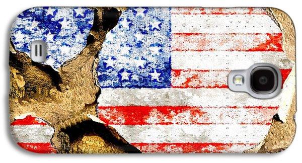American Flag Grunge Galaxy S4 Case