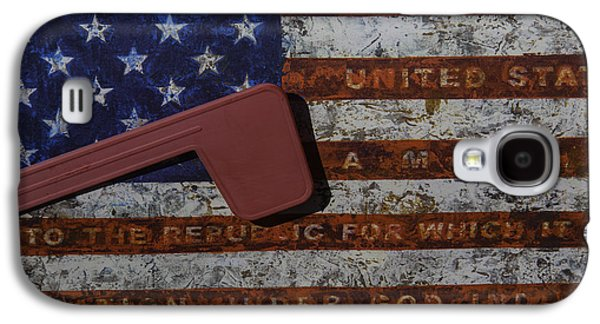 American Flag Mail Box Galaxy S4 Case by Garry Gay