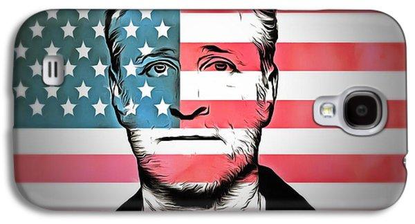 American Icon Jon Stewart Galaxy S4 Case by Dan Sproul