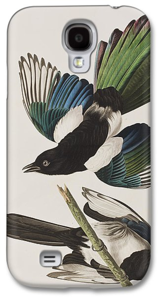 American Magpie Galaxy S4 Case by John James Audubon