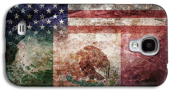 American Mexican Tattered Flag  Galaxy S4 Case by Az Jackson
