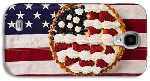 American Pie On American Flag  Galaxy S4 Case by Garry Gay