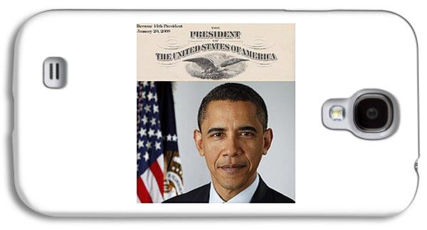 America's 44th President Galaxy S4 Case by Philip Burrow