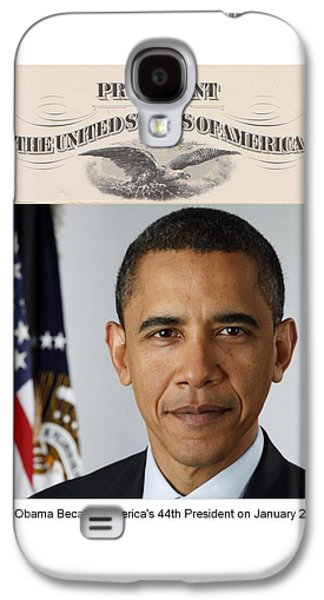 America's Forty-fourth President - Version Two Galaxy S4 Case by Philip Burrow