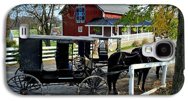Amish Country Horse And Buggy Galaxy S4 Case by Frozen in Time Fine Art Photography