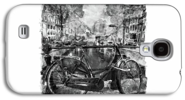 Amsterdam Bicycle Black And White Galaxy S4 Case by Marian Voicu