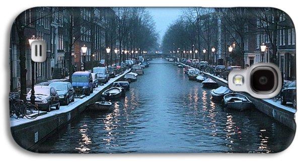 Amsterdam Winter Blues Galaxy S4 Case by Carol Groenen
