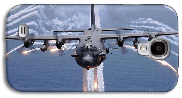 An Ac-130h Gunship Aircraft Jettisons Galaxy S4 Case