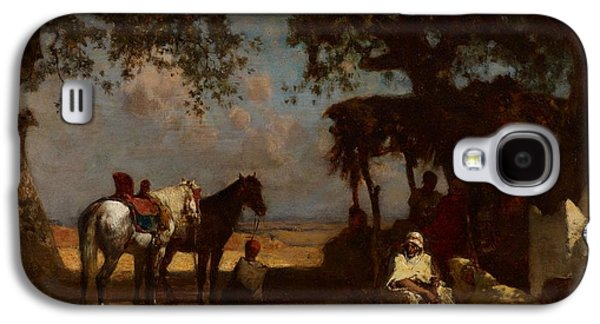 An Arab Encampment Galaxy S4 Case by Gustave Guillaumet