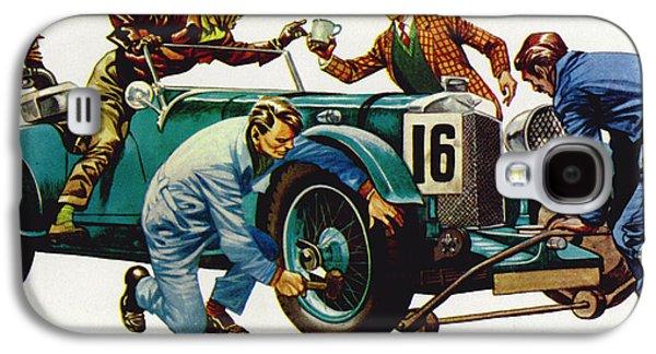 An Aston Martin Racing Car, Vintage 1932 Galaxy S4 Case by Peter Jackson