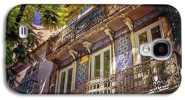 An Elegant Balcony In Lisbon Portugal  Galaxy S4 Case