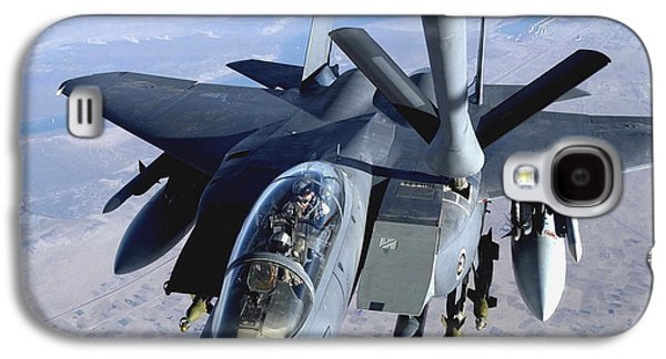 Mechanism Galaxy S4 Cases - An F-15e Strike Eagle Refuels Over Iraq Galaxy S4 Case by Stocktrek Images