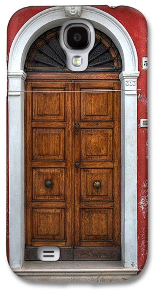 an old wooden door in Italy Galaxy S4 Case by Joana Kruse
