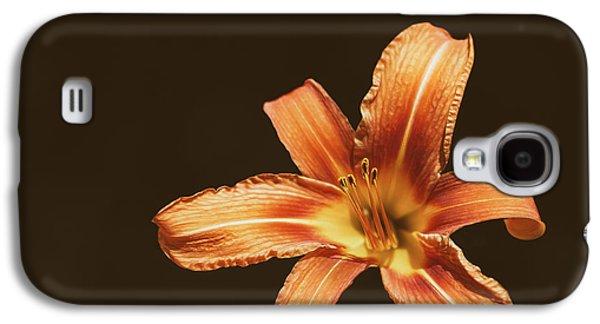 An Orange Lily Galaxy S4 Case by Scott Norris