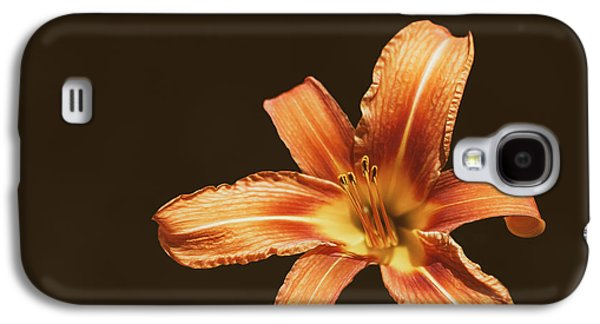 An Orange Lily Galaxy S4 Case by Scott Norris