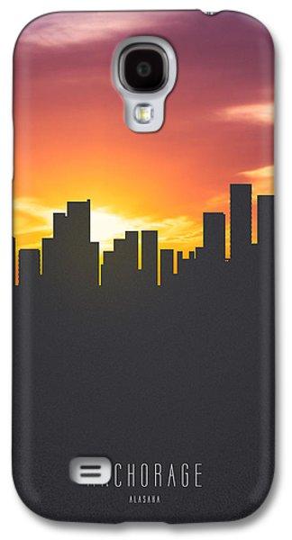 Skyline Galaxy S4 Case - Anchorage Alaska Sunset Skyline 01 by Aged Pixel