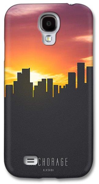 Anchorage Alaska Sunset Skyline 01 Galaxy S4 Case