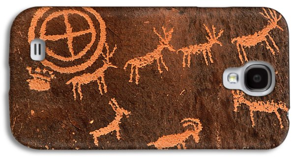 Hopi Galaxy S4 Cases - Ancient Indian Petroglyphs Galaxy S4 Case by Gary Whitton