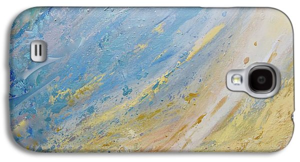 Silver Turquoise Galaxy S4 Case - And God Made The Firmament by Laurie Hein