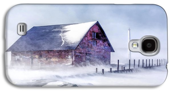 Galaxy S4 Case featuring the painting Anderson Dock Winter Storm by Christopher Arndt