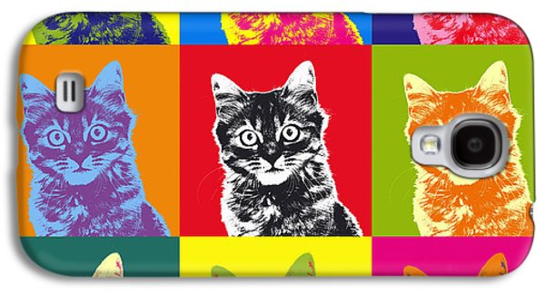 Andy Warhol Cat Galaxy S4 Case