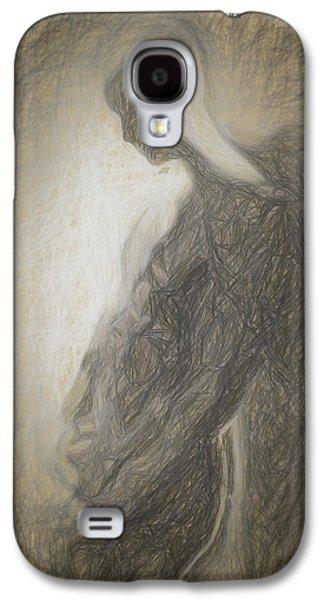Angel Backlit Galaxy S4 Case by Quim Abella