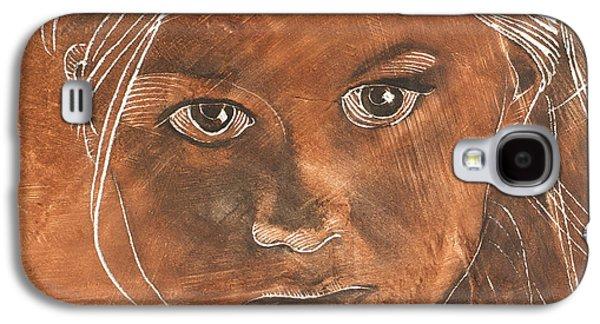 Angel In Process Head Detail Galaxy S4 Case by Richard Hoedl