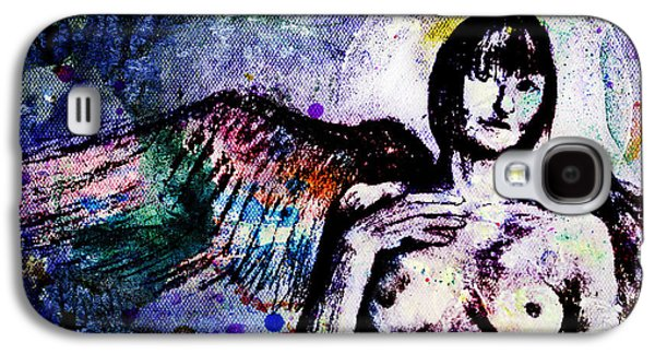 Angel With Rainbow Wings Galaxy S4 Case by Michael Volpicelli